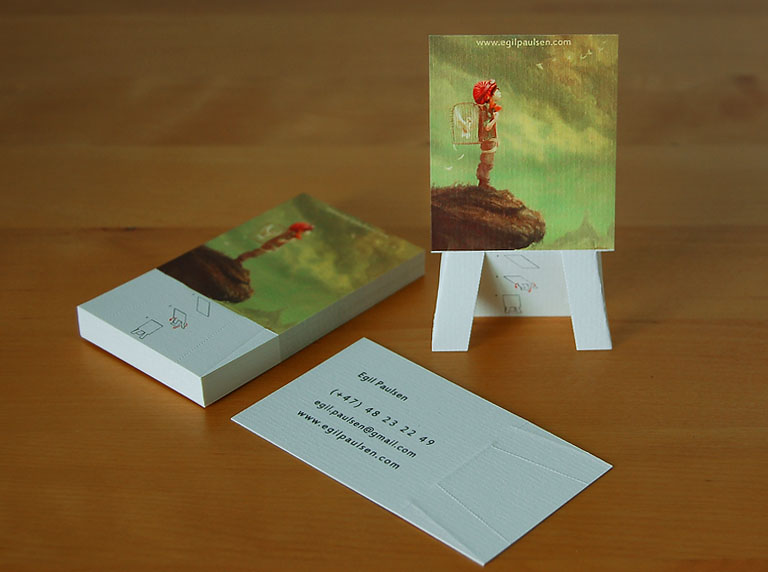 artwork:Easel Business Card