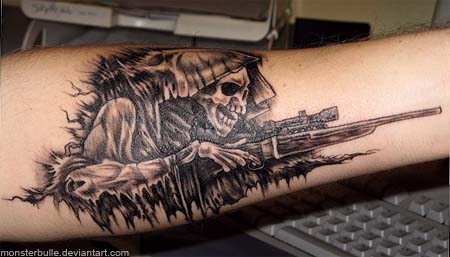 Grim Sniper printed in flesh - January 28, 2008